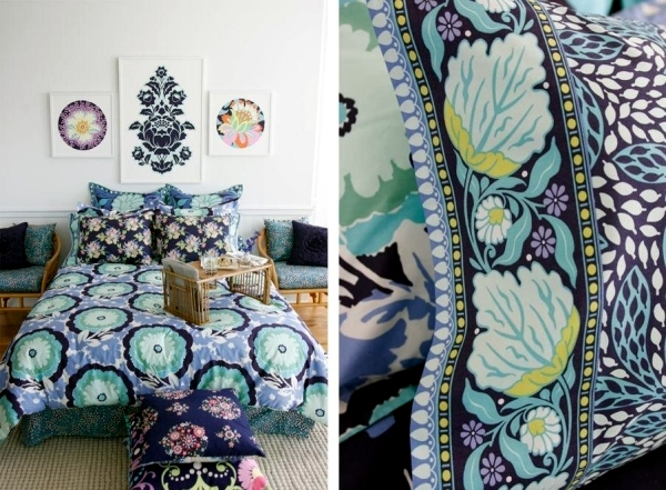 Refresh your bedroom with colorful bedding and pillows