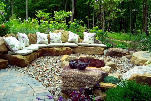 17 ideas for garden design - Stones are versatile