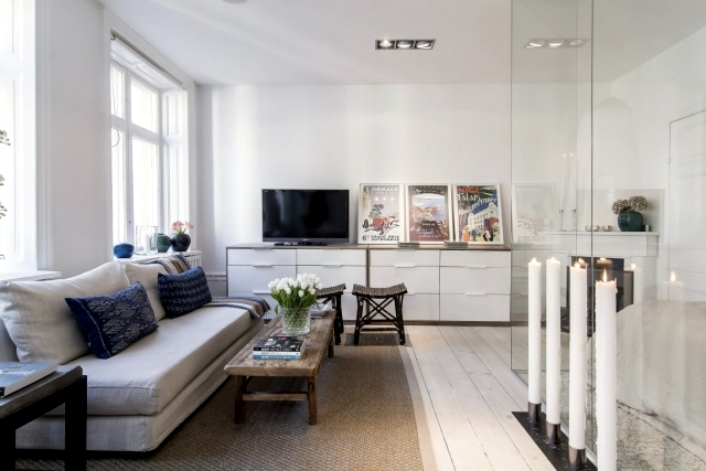 Scandinavian style in a small apartment in Stockholm
