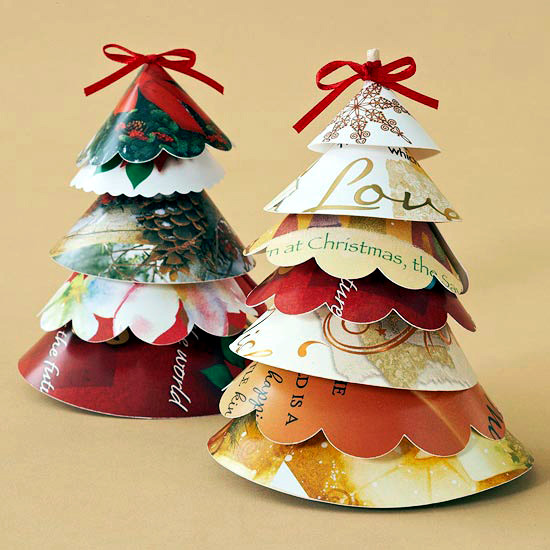 Christmas paper crafts ideas for upcycling christmas cards
