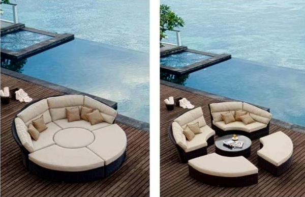 Unique garden furniture Unusual Garden Furniture Ofdesign Rattan Garden Furniture With Unusual Design Royal Garden Interior