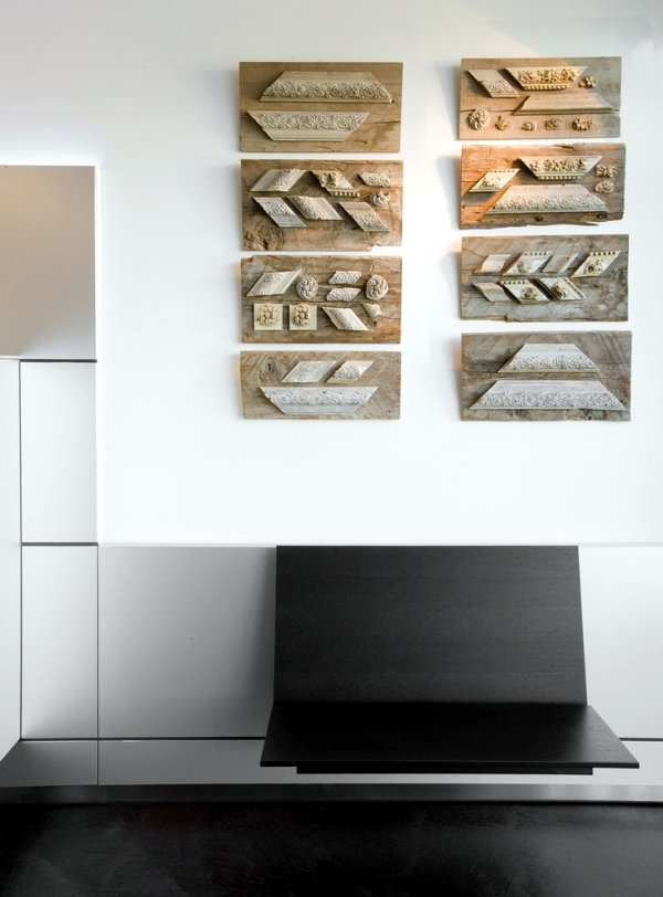 Wall art made from recycled wood gives your home a special touch interior design ideas ofdesign - Japanese style garden furniture brings harmony into your life ...