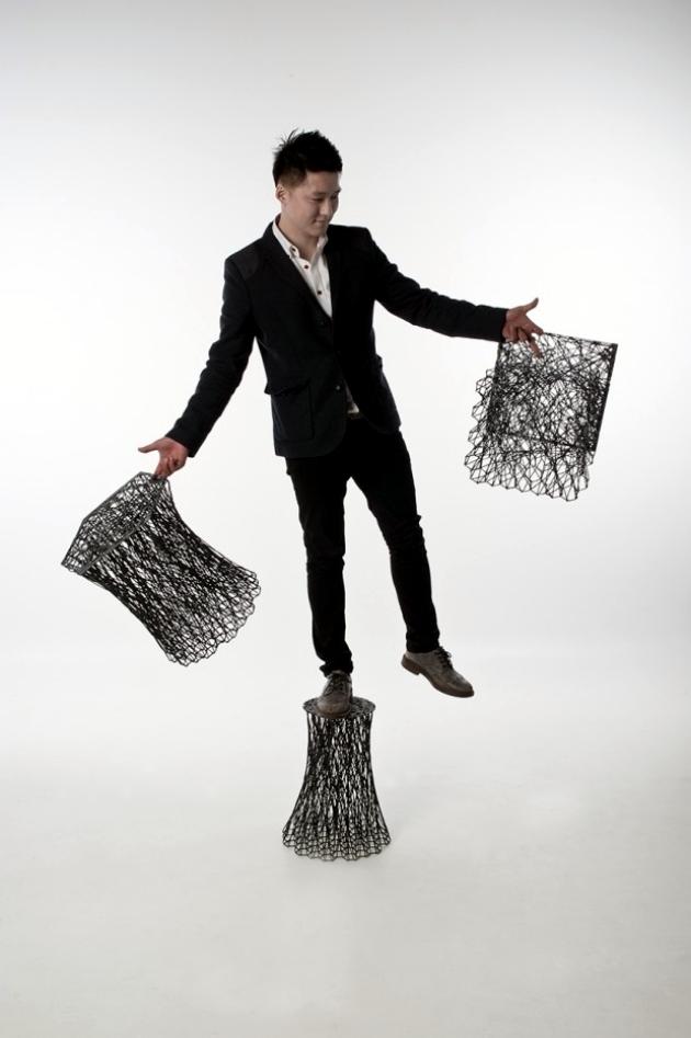 """Carbon fiber chair design """"Luno"""" Il Hoon Roh"""