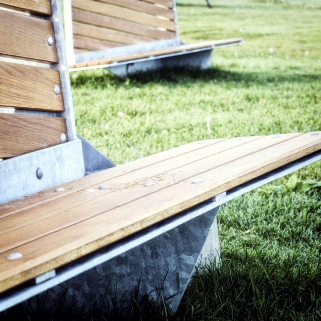 Contemporary bench adds a touch of history in Canadian park