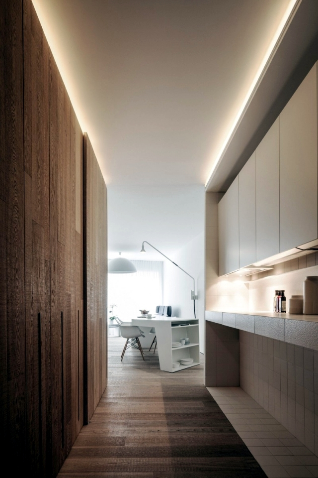 Modern apartment in a narrow zone, but with a stylish design