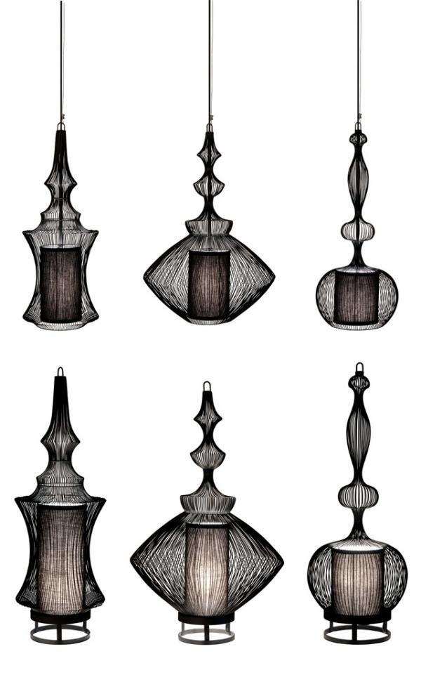 Effective metal lamps - Fil de Fer Forestier collection