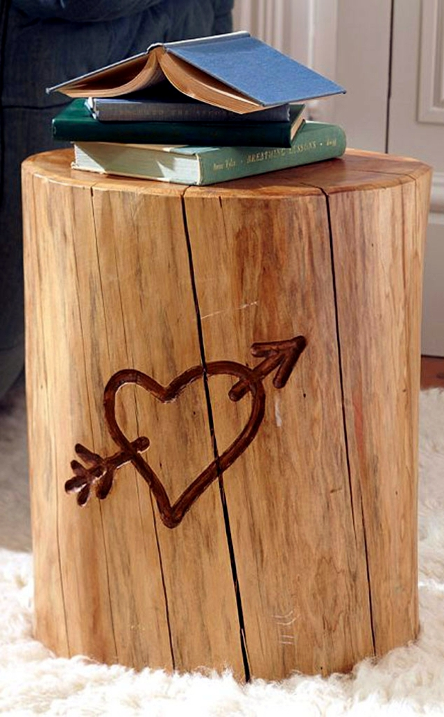 Design side table - 23 creative ideas that you can build yourself