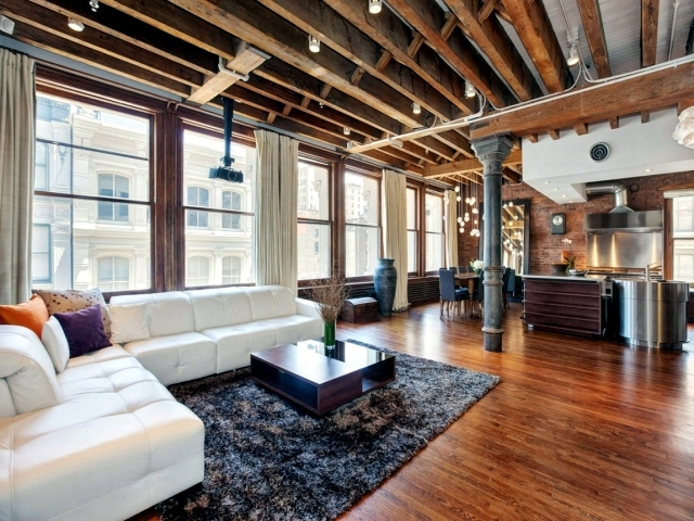 The industrial look in a lovely apartment in SoHo, New York