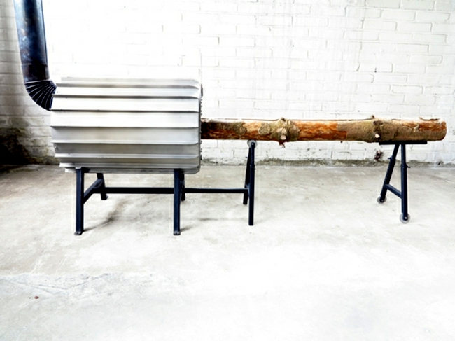 Modern Heating - new wood logs wood design