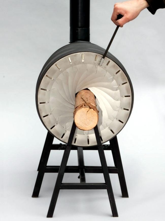 Modern Heating New Wood Logs Design Interior