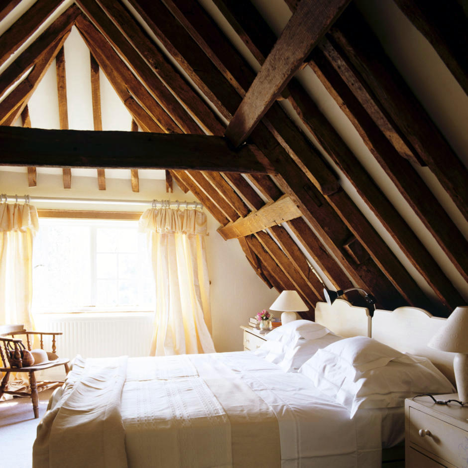 attic to bedroom ideas - Asleep beneath the gable roof
