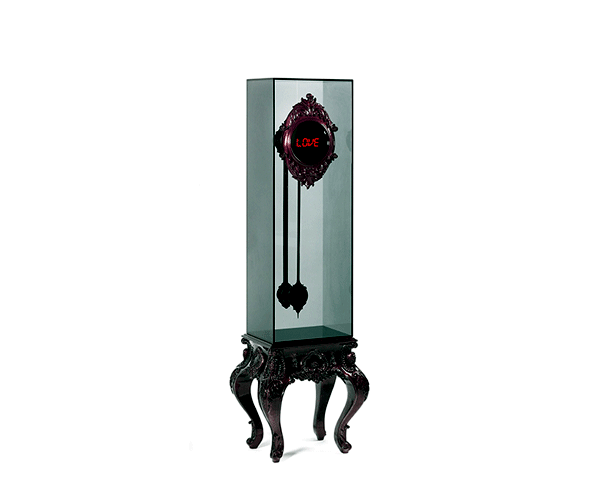 Design wall clock with pendulum Boca do Lobo - glass elements and old