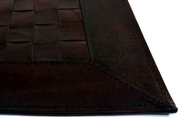 Leather carpets are back in fashion - Aspen Design rug Naturtex