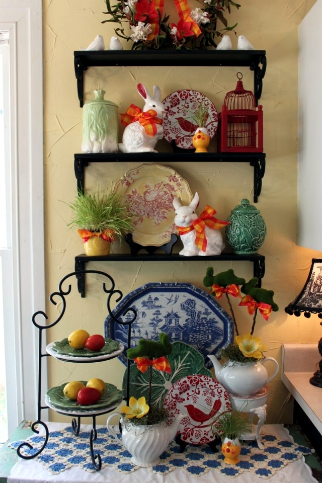 23 easter decorating ideas evoke a great atmosphere in for Easter decorations ideas for the home