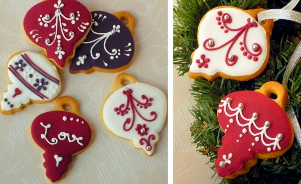 Ideas for arrangements with festive Christmas cookies and gingerbread