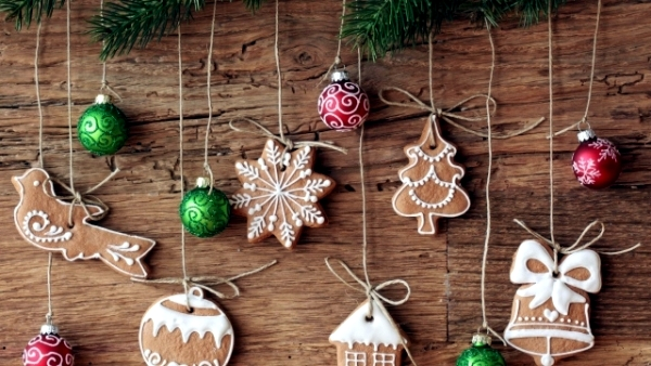 christmas gingerbread decorations free shipping 60pcs 2016 winter fashion laser crafts polyester felt christmas gingerbread man