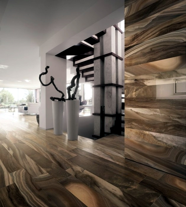 Porcelain Tile With The Look Of Wood And Marble Effect Gardenia Interior Design Ideas Ofdesign