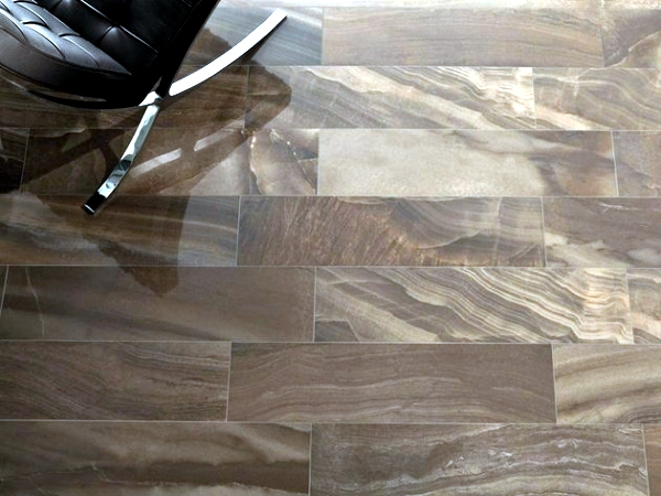 Porcelain tile with the look of wood and marble effect Gardenia