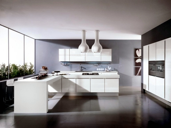 White minimalist kitchen - 20 designs for a unique atmosphere
