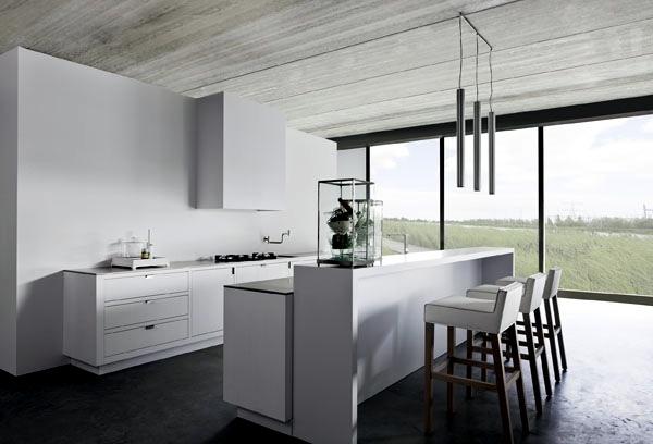 White minimalist kitchen - 20 designs for a unique atmosphere