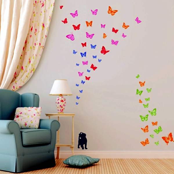 33 Ideas For Decorating With Wall Stickers To Revitalize The Walls And Furniture