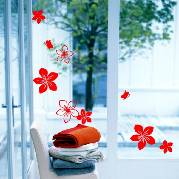 33 ideas for decorating with wall stickers - to revitalize the walls and furniture