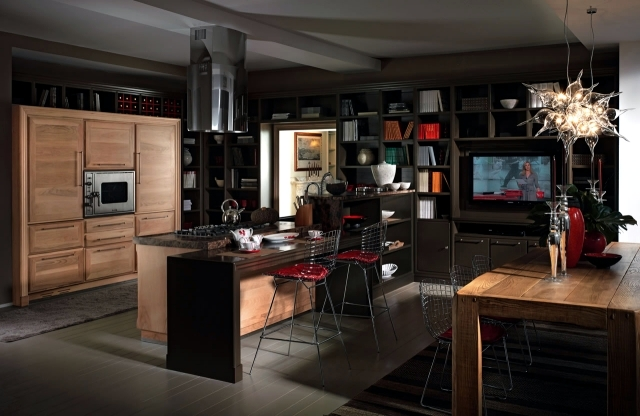Modern solid wood kitchen Majestic Otto Cento