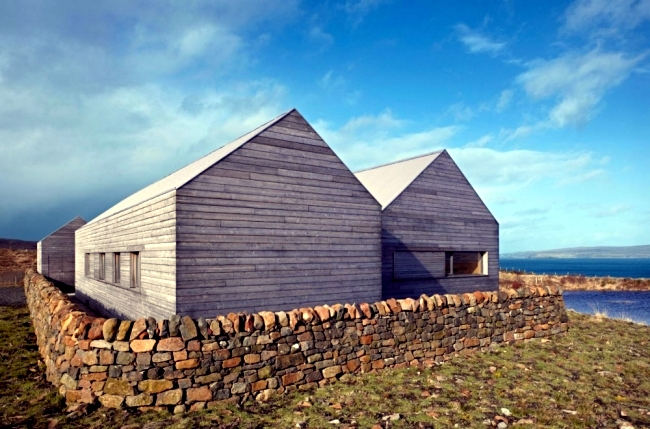 House Gabled Wooden Scottish Combining Tradition And