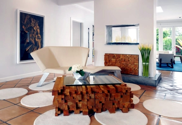 Interior Design Ideas for Living: furniture design as a focal point