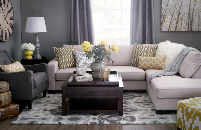 Color ideas for living room gray walls paint interior for Living room 2 color ideas