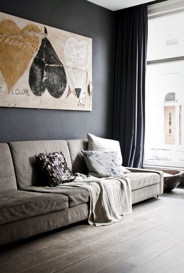 color ideas for living room - gray walls paint