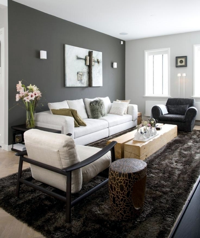 Grey Interior Design Ideas: Color Ideas For Living Room – Gray Walls Paint