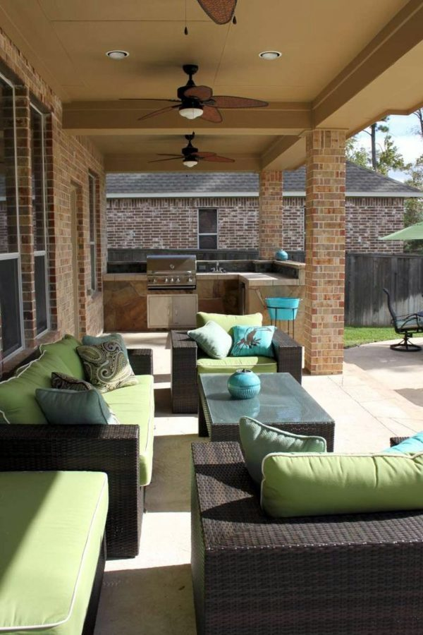 integrate barbecue on the patio modern terrace design 100 images and creative ideas - Home Terrace Design