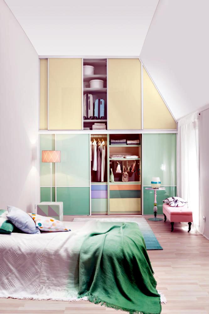 built in wardrobe in pastel colors interior design ideas ofdesign