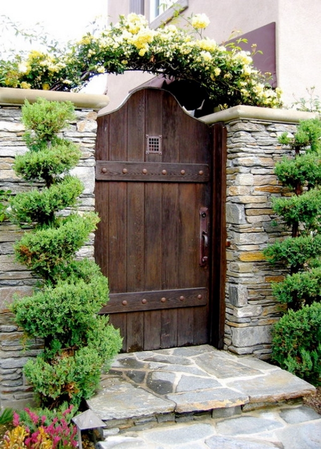 26 ideas for garden gates and garden gates - the first to ... on Gate Color Ideas  id=30066