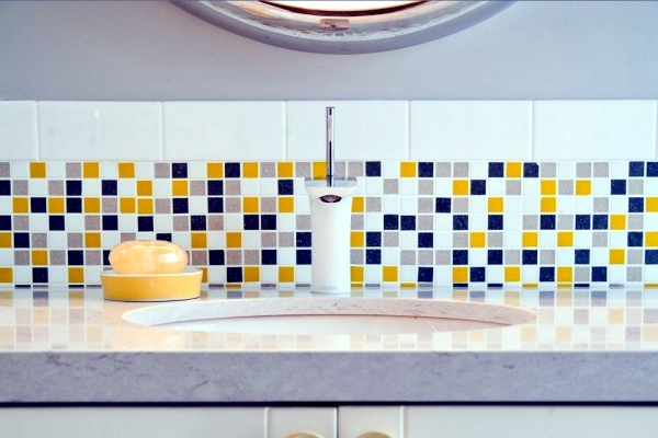 Mosaic tiles for bathroom - ideas for 15 models and types of installation