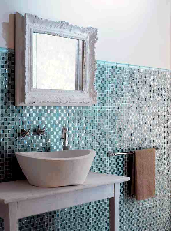 mosaic tiles for bathroom ideas for 15 models and types of installation - Bathroom Designs With Mosaic Tiles