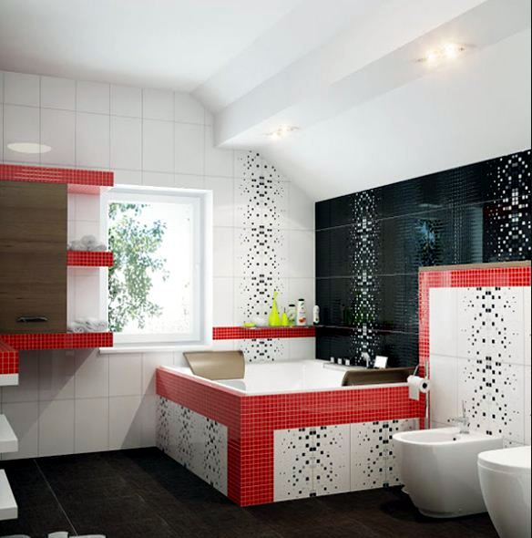 Mosaic tiles for bathroom – ideas for 15 models and types of ...
