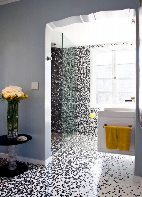 Mosaic Tiles For Bathroom   Ideas For 15 Models And Types Of Installation