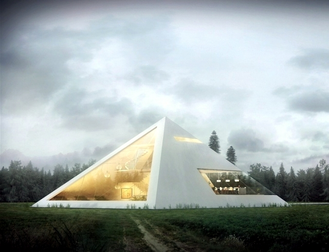 An Awesome 3d House Concept As A Pyramid Of Juan Carlos