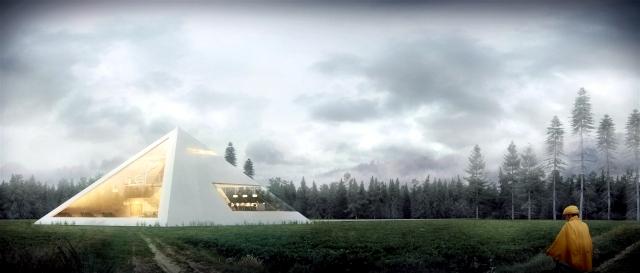 An awesome 3d house concept as a pyramid of Juan Carlos Ramos