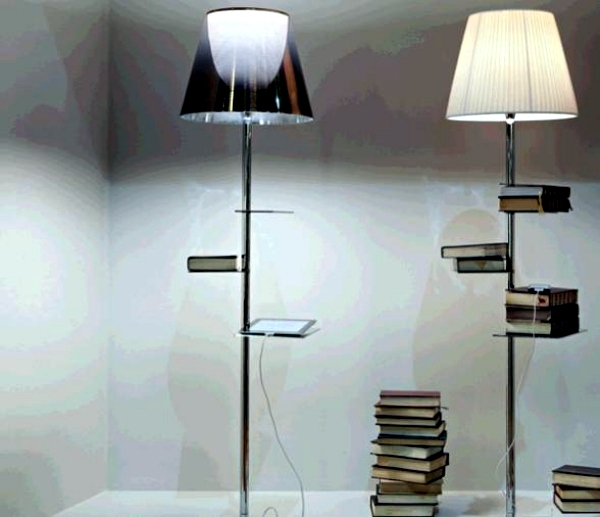 floor lamp with shelves  eBay