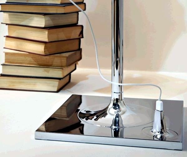 Stainless steel lamp by Philippe Starck with shelves