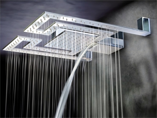 Contemporary bathroom vanity lighting - Shower Heads And Light Rain With Modern Lighting By Gattoni Interior
