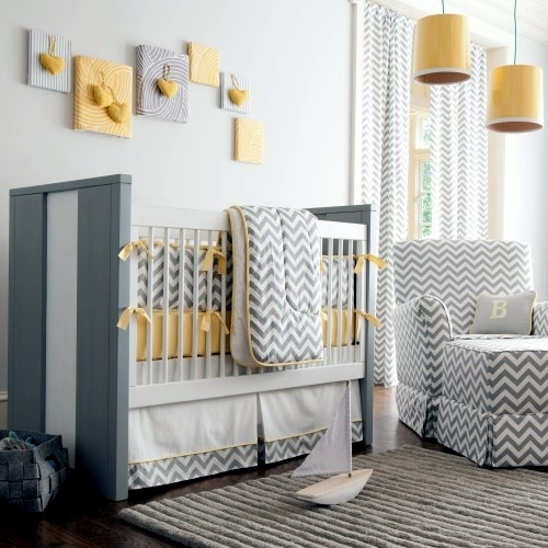 Soft pastel and warm colors - Nursery Decoration
