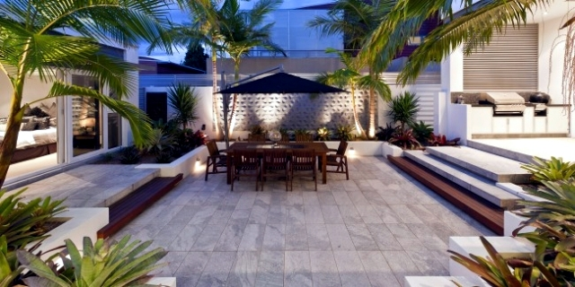 Designing exotic backyard of a house near the sea in for Backyard design ideas australia