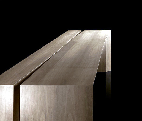"Contemporary wooden table ""K-Table"" offers versatility"