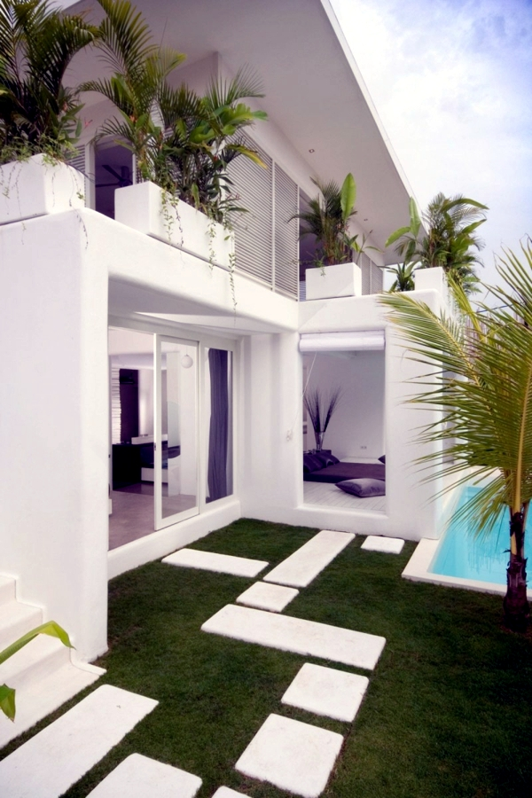 Luxury modern house white exotic world of mouth Interior Design