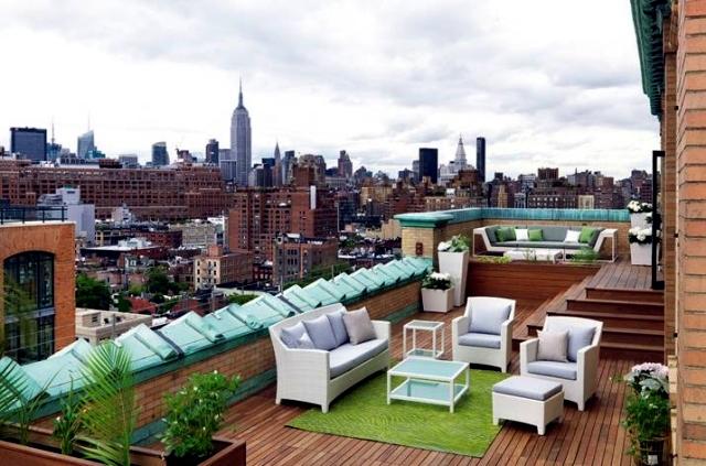 Interior design solutions Dedon comfortable design roof terrace