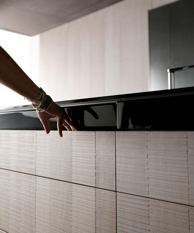 Toncellis carbon fiber high-tech kitchen and Liquid Metal